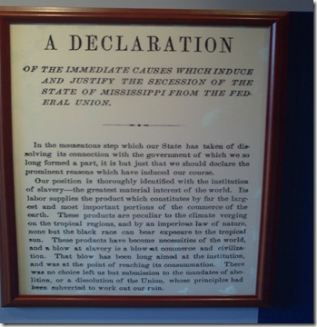 Declaration of Mississippi Independence