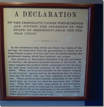 Declaration of Mississippi Independence