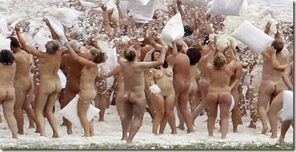 Naked pillow fight cover
